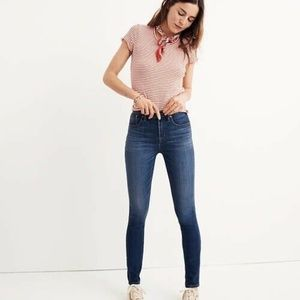 Madewell 10″ High-Rise Skinny Jeans in Danny Wash
